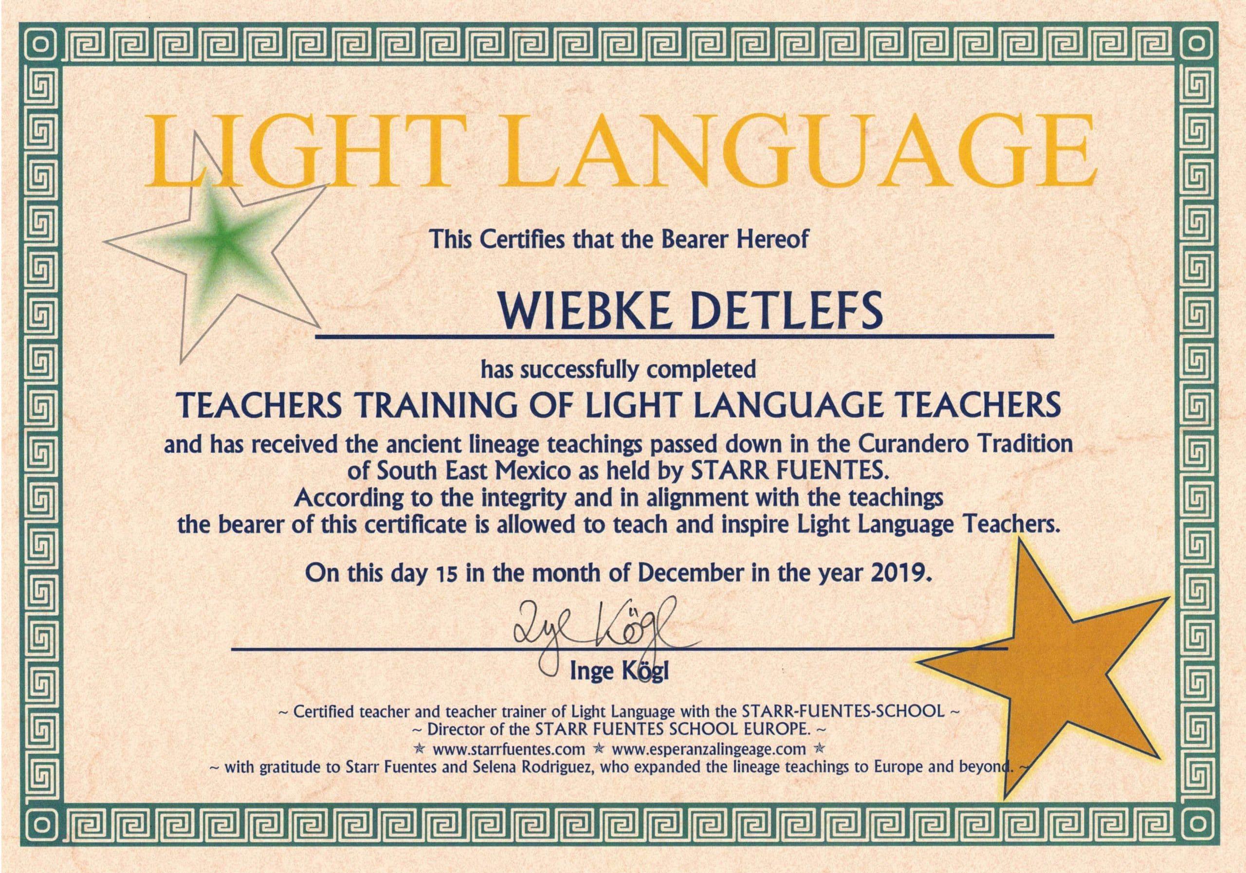 Lichtsprache-Lehrer-Trainer